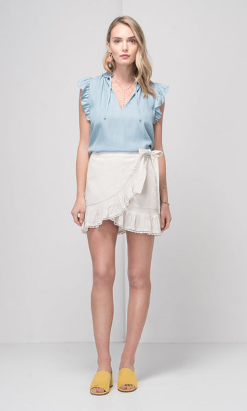 Greylin Isla Chambray Top