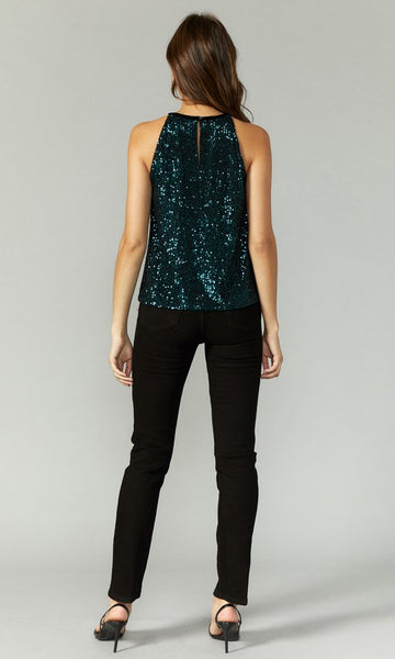 Greylin Mini Sequins Halter Top