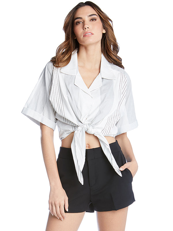 Fifteen Twenty Mixed Stripe Tie Top