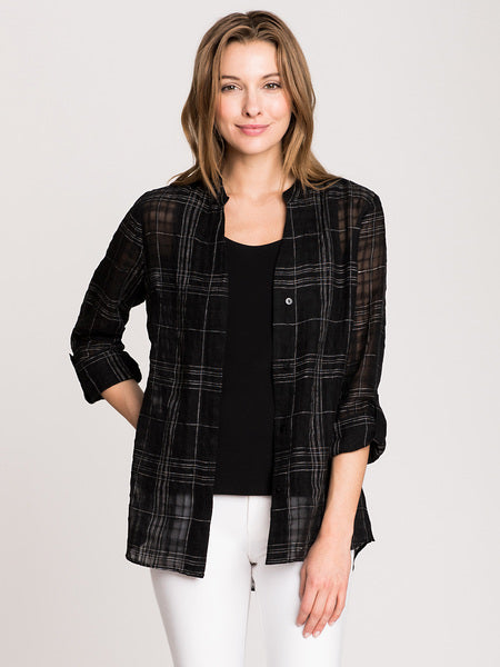 NIC+ZOE Summer Plaid Top
