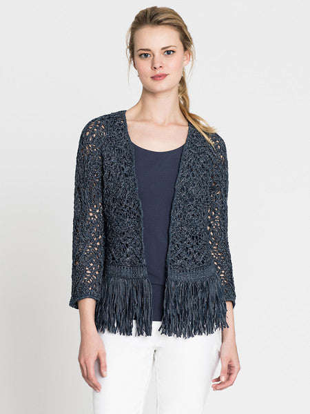 NIC+ZOE Fiji Waves Fringe Jacket