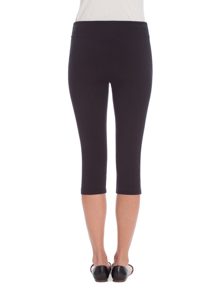 NIC+ZOE Perfect Crop Legging: Powder White