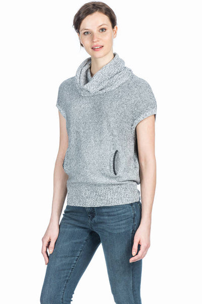 Lilla P Light Ash Cowl Neck Pullover