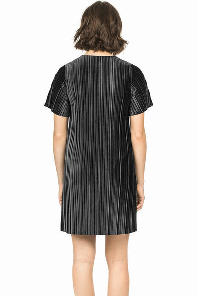Lilla P Black Flutter Sleeve Dress