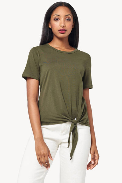 Lilla P Short Sleeve Tie Front