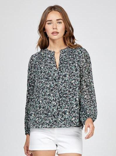 Greylin Fenty Printed Peasant Blouse