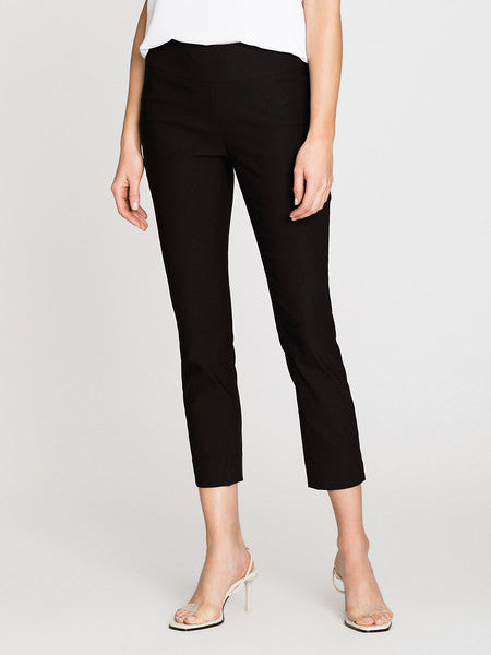 NIC+ZOE Polished Crop Wonderstretch Pant - Black