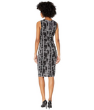 Nicole Miller Painted Herringbone Lauren Sheath Dress