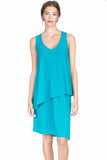 Lilla P Stretch Jersey Double Layer Tank Dress: Steel