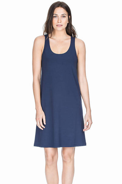 Lilla P Jersey Tank Dress - Blk
