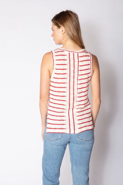 Red Haute Striped Tank