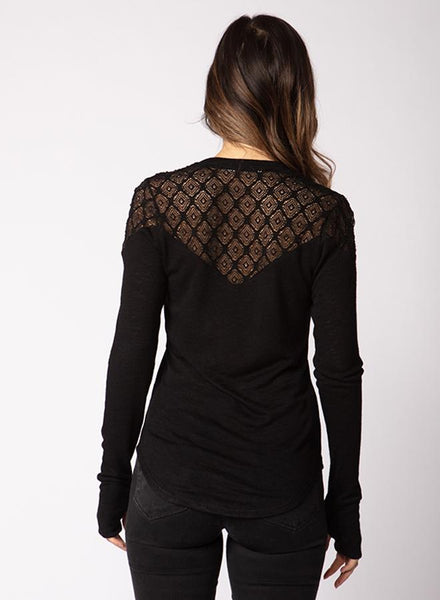 Red Haute Black Lace Top