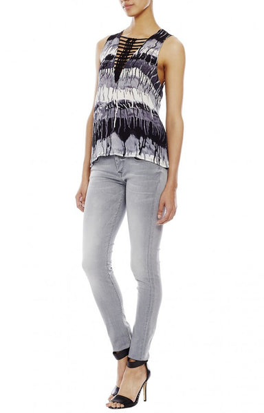 Nicole Miller Ladder Braid Top