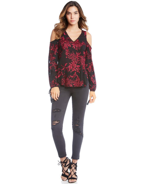 Fifteen Twenty Ruby Embroidered Top