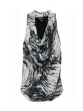 Fifteen Twenty Drape Neck Top - Print