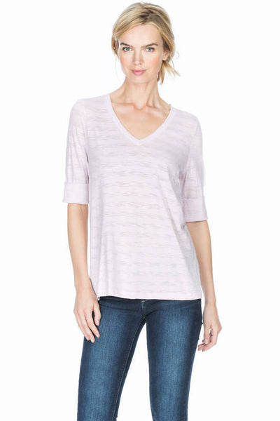 Lilla P White Elbow V-Neck