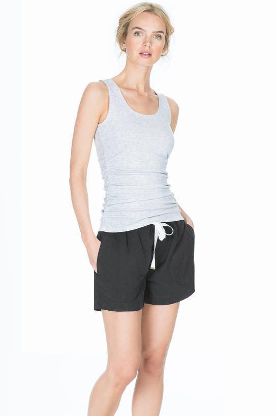 Lilla P Drawstring Black Shorts