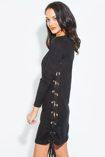 Sugarlips Side Lace Up Dress