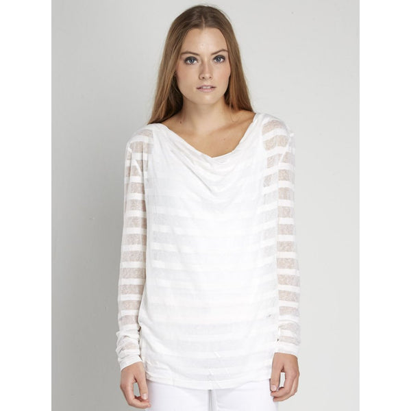NU Denmark Sheer Stripes Top