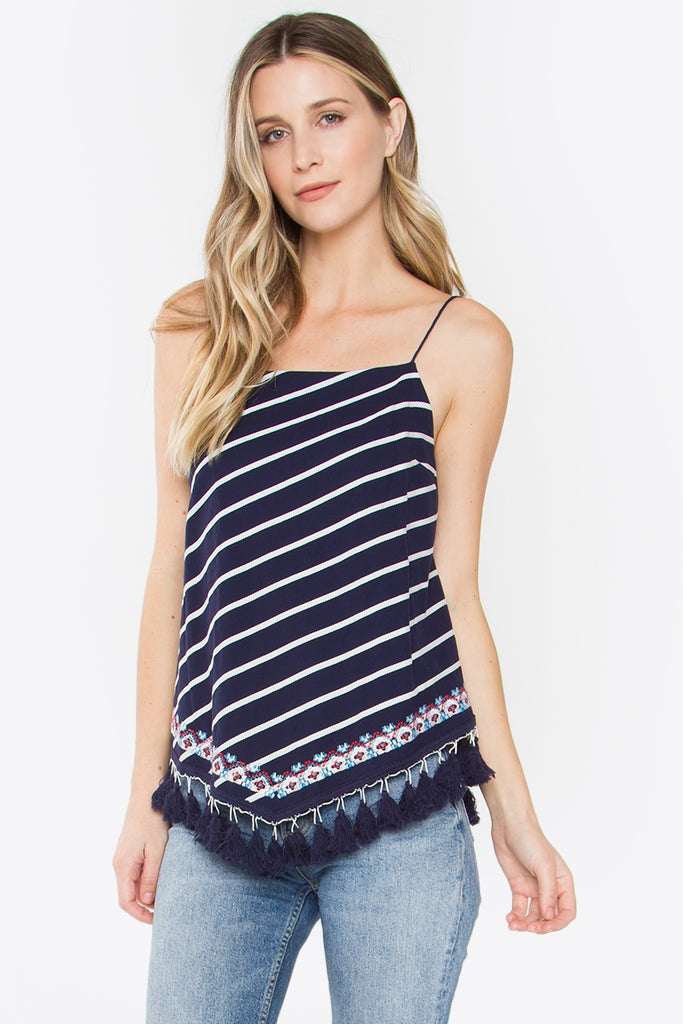 667948847fb Sugarlips odessa striped tank