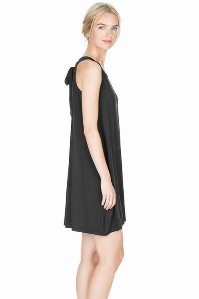 Lilla P Black Tie Back Dress