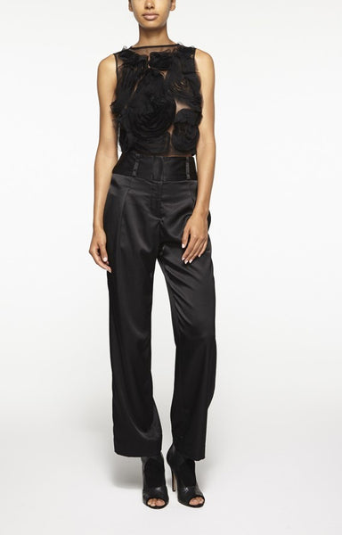 Nicole Miller Satin Crepe Cropped Pant