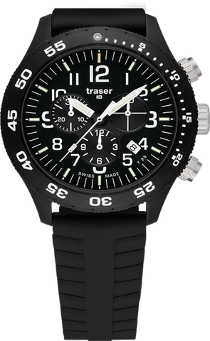 Traser P67 Officer Chronograph Pro Silicone with Safety Clasp 107101