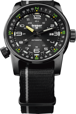 Traser P68 Pathfinder Automatic Black Silver NATO 107718