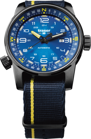 Traser P68 Pathfinder Automatic Blue Yellow NATO 107719