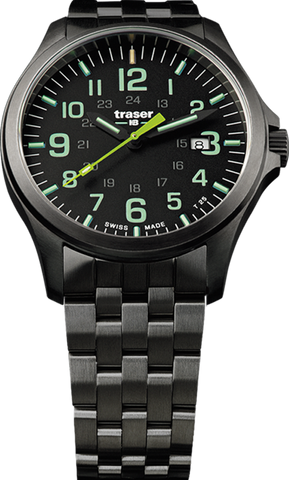 Traser P67 Officer Pro GunMetal Black/Lime 107869