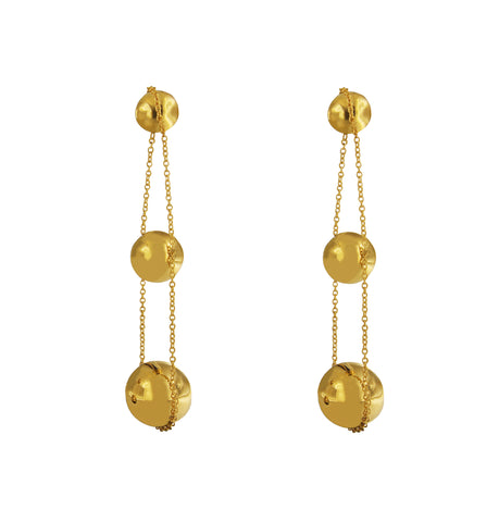 Tiffany & Co. Yellow Gold Triple Drop Earrings