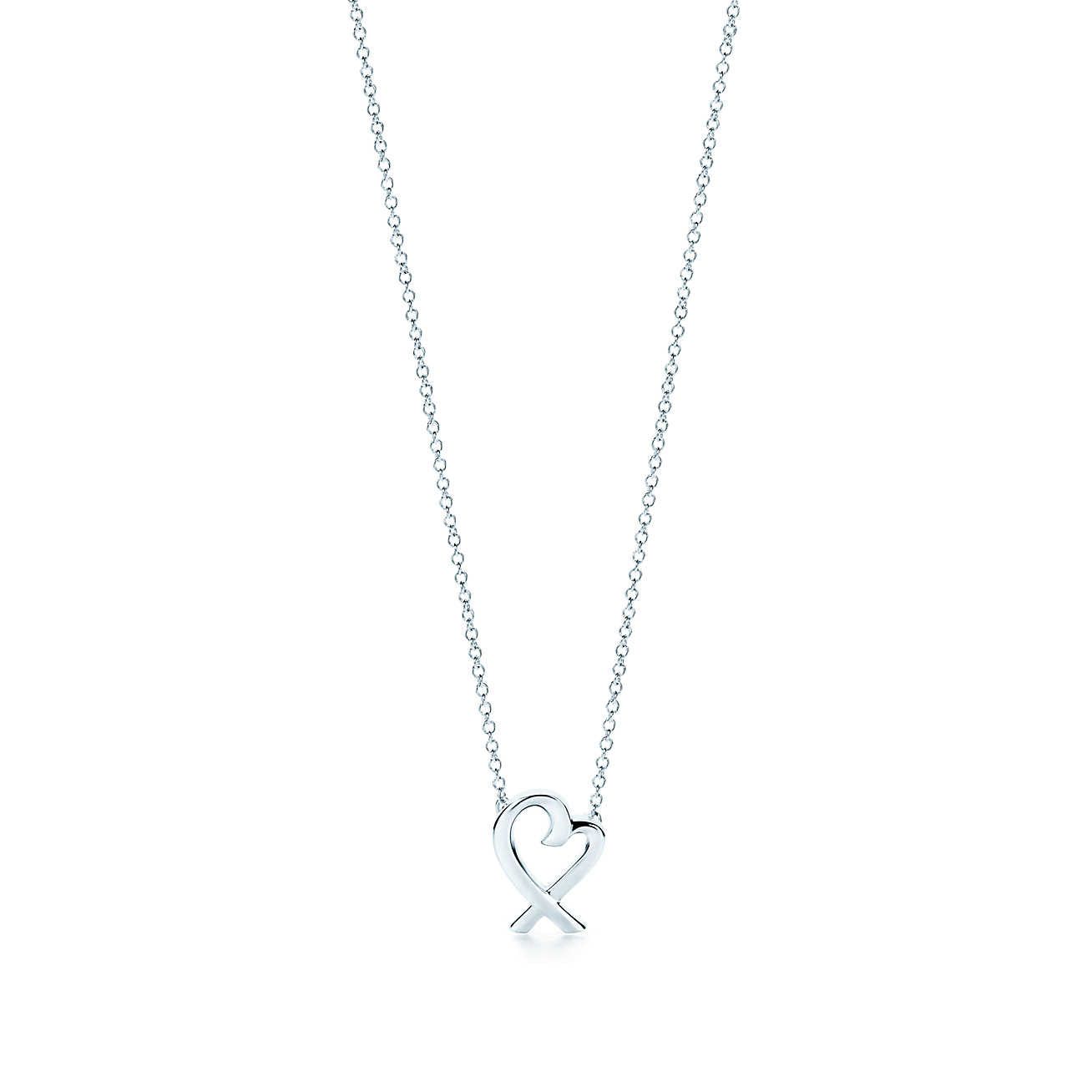 Tiffany co sterling silver paloma picasso loving heart pendant sterling silver paloma picasso loving heart pendant necklace aloadofball Gallery