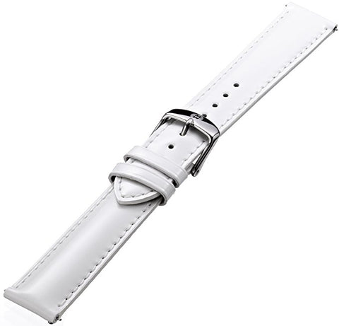 Michele White Patent Leather 18mm Strap