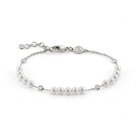 Bella Moonlight Bracelet in Silver with Pearls