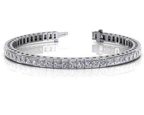 Stunning Princess Cut Diamond Bracelet