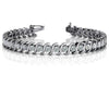 S Shaped Prestigious Diamond Bracelet