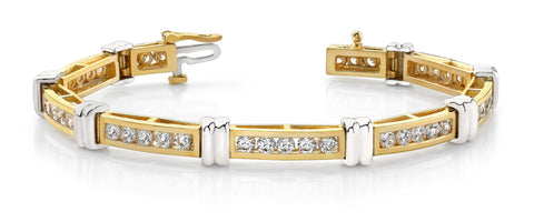 Channel Set Superlative Diamond Bracelet