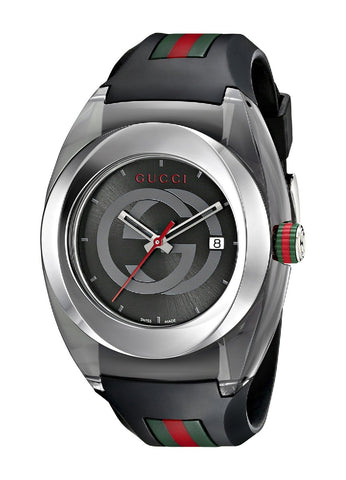 Gucci SYNC XXL Black Rubber Black Dial Watch YA137101