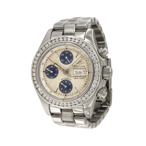 Breitling Superocean Chronograph Watch with Diamond Bezel A13340