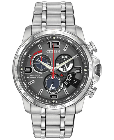 CITIZEN Eco-Drive BY0100-51H Radio Controlled Chrono Time A-T