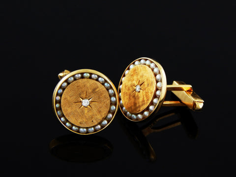 14k Lucien Piccard Sophisticated Cufflinks