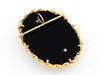 14k Gold Black Onyx Brooch & Pendant with VS-G Diamonds