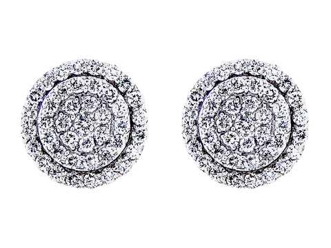 18k White Gold Ladies 1.48ct Diamond Studs