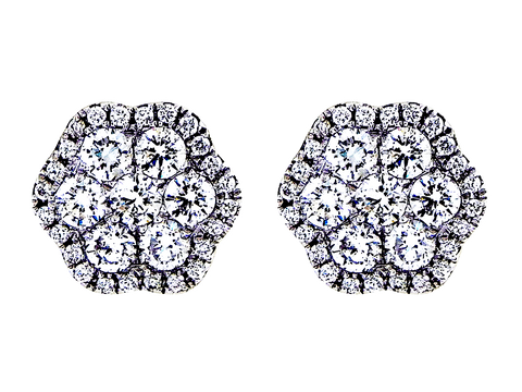 Radiant Design .95ct Diamond Studs