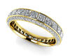 Glamorous Princess and Round Diamond Eternity Band