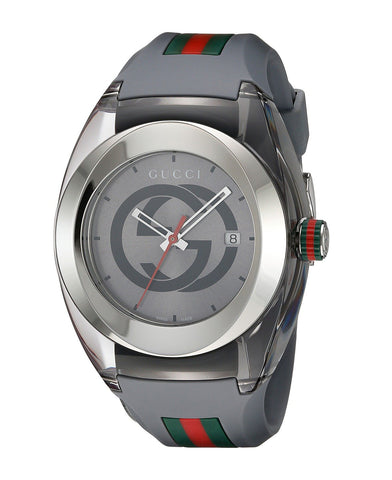Gucci SYNC XXL Gray Rubber Gray Dial Watch YA137109
