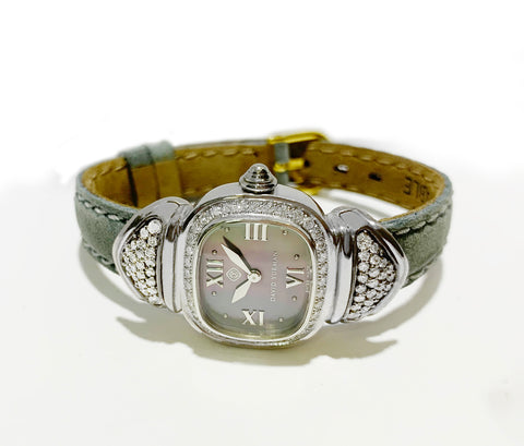David Yurman Sterling Silver Diamond MOP Dial Watch T-22300