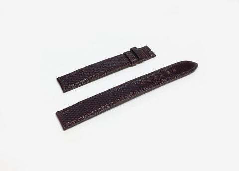 Cartier Dark Red Lizard Strap 16mm