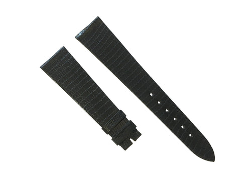 Piaget New Swiss Black Leather Watch Strap