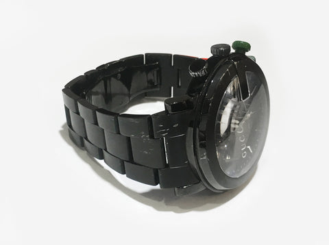 84a4a8e800b Gucci Black G-Chrono Collection PVD and Stainless Steel YA101331 ...
